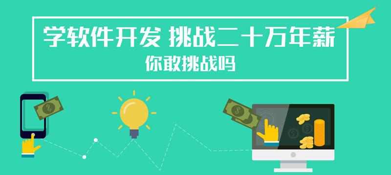 学软件开发挑战高薪